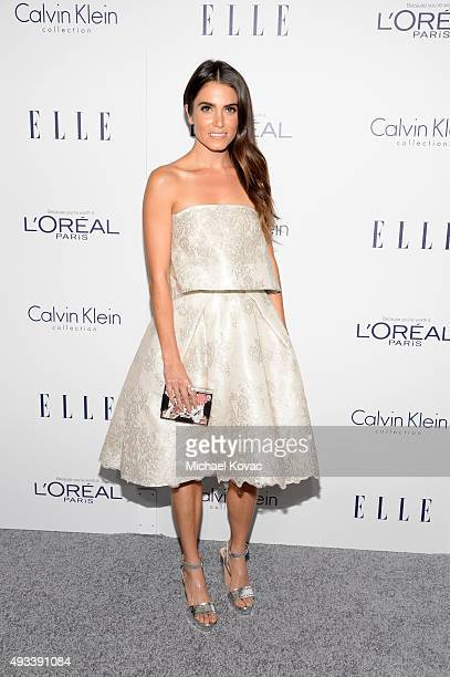 Actress Nikki Reed attends the 22nd Annual ELLE Women in Hollywood Awards at Four Seasons Hotel Los Angeles at Beverly Hills on October 19 2015 in...