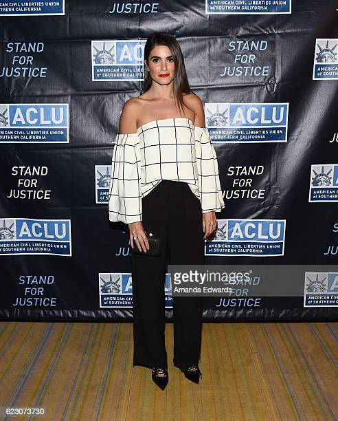 Actress Nikki Reed attends the ACLU SoCal's 2016 Bill of Rights Dinner at the Beverly Wilshire Four Seasons Hotel on November 13 2016 in Beverly...