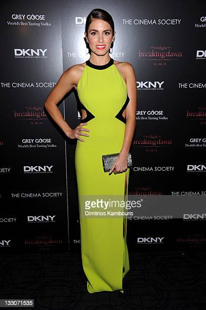 Actress Nikki Reed attends the Cinema Society DKNY screening of The Twilight Saga Breaking Dawn Part 1 at Landmark Sunshine Cinema on November 16...