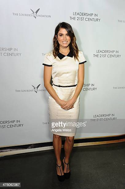 Actress Nikki Reed attends The Lourdes Foundation Leadership in the 21st Century Event with His Holiness the 14th Dalai Lama at the California...