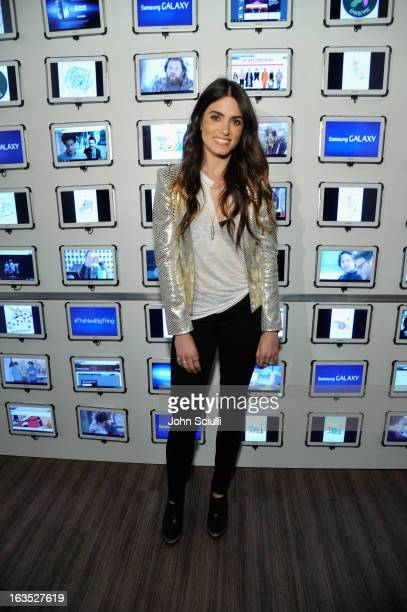 Actress Nikki Reed attends the 'Snap' cast dinner hosted by The Samsung Galaxy Experience at SXSW 2013 on March 11 2013 in Austin Texas