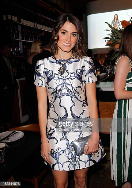 Actress Nikki Reed attends Vogue's Triple Threats dinner hosted by Sally Singer and Lisa Love at Goldie's on April 3 2013 in Los Angeles California