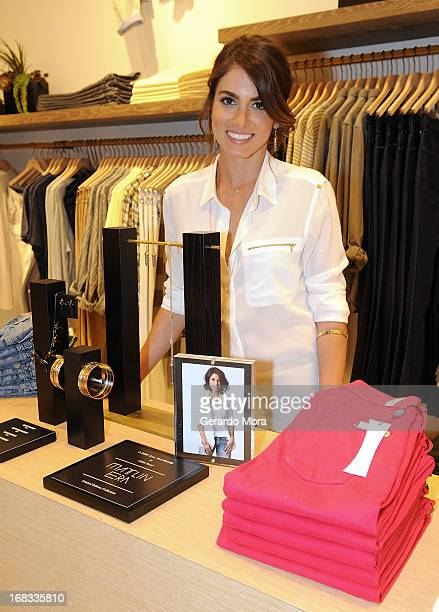 Actress Nikki Reed poses with her 7 For All Mankind x Nikki Reed jewelry collection at 7 For All Mankind x Nikki Reed Jewelry Collection at The Mall...