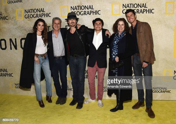 Actress Nikki Reed production designer Seth Reed actor Ian Somerhalder and and Nikki's mother and brothers arrive at the premiere of National...