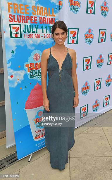 "Actress Nikki Reed star of the hit movies ""Twilight"" and ""Empire State"" hosts 7Eleven's 86th birthday at a party on July 9 2013 in Malibu California..."