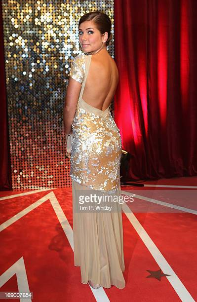 Actress Nikki Sanderson attends the British Soap Awards at Media City on May 18 2013 in Manchester England