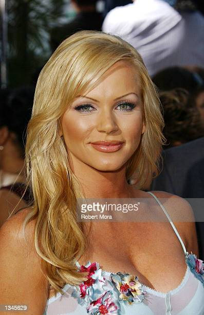 Actress Nikki Ziering attends the premiere of Serving Sara at the Samuel Goldwyn Theater on August 20 2002 in Beverly Hills California The film opens...
