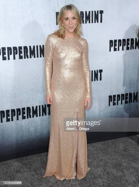 Actress Nilla Watkins arrives for the Premiere Of STX Entertainment's Peppermint held at Stadium 14 on August 28 2018 in Los Angeles California