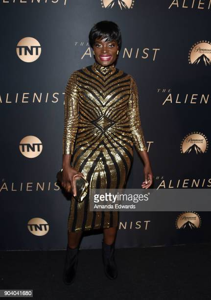 Actress Nimi Adokiye arrives at the premiere of TNT's The Alienist at The Paramount Lot on January 11 2018 in Hollywood California