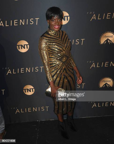 Actress Nimi Adokiye arrives for the Premiere Of TNT's The Alienist held at Paramount Pictures on January 11 2018 in Los Angeles California