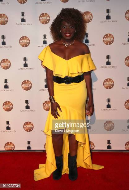 Actress Nimi Adokiye attends the 45th Annual Annie Awards at Royce Hall on February 3 2018 in Los Angeles California
