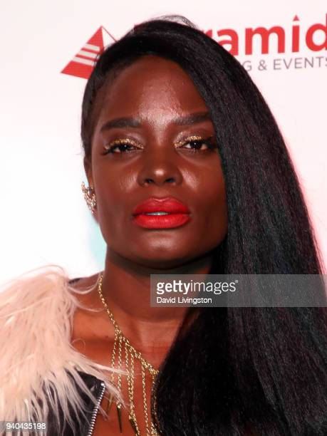 Actress Nimi Adokiye attends the 6th Annual Rock Against MS benefit concert and award show at the Los Angeles Theatre on March 31 2018 in Los Angeles...