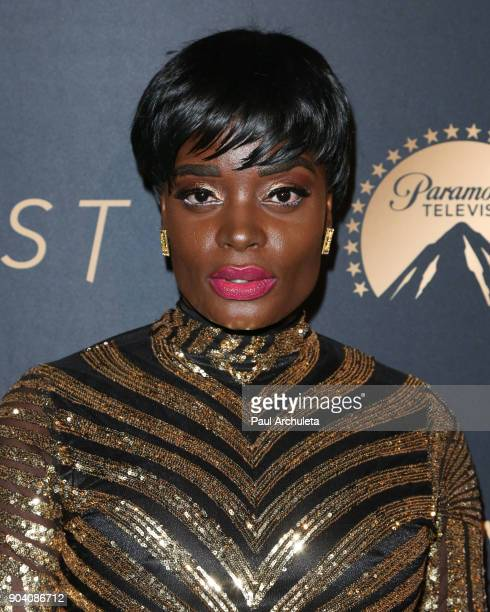 Actress Nimi Adokiye attends the premiere of TNT's The Alienist at The Paramount Lot on January 11 2018 in Hollywood California