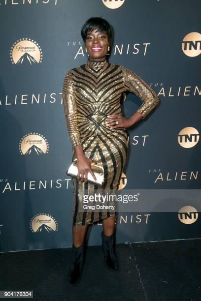 Actress Nimi Adokiye attends the Premiere Of TNT's The Alienist on January 11 2018 in Hollywood California