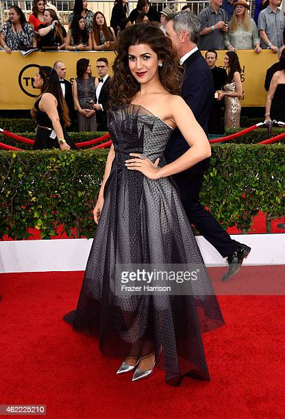 Actress Nimrat Kaur attends the 21st Annual Screen Actors Guild Awards at The Shrine Auditorium on January 25 2015 in Los Angeles California