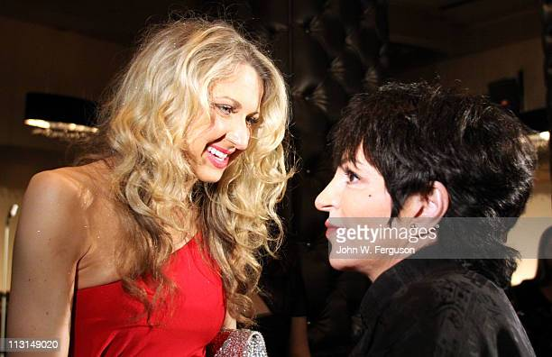 Actress Nina Arianda and Liza Minnelli attend the after party for the Born Yesterday Broadway opening night>> at The Edison Ballroom on April 24 2011...