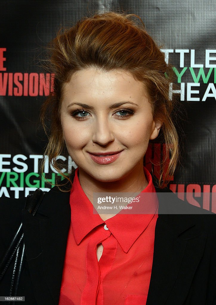 Actress Nina Arianda attends 'The Revisionist' opening night at Cherry Lane Theatre on February 28, 2013 in New York City.