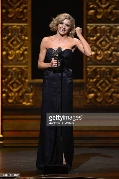 Actress Nina Arianda of Venus In Fur accepts the award for Leading Actress in a Leading Role in Play onstage at the 66th Annual Tony Awards at The...