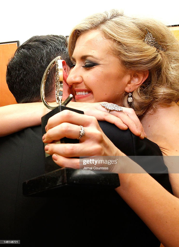 Actress Nina Arianda, winner of Best Performance by a Leading Actress in a Play for 'Venus in Fur' poses in the 66th Annual Tony Awards press room at The Beacon Theatre on June 10, 2012 in New York City.