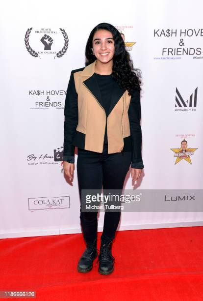 Actress Nina Aviva attends the Kash Hovey and Friends Film Block at Film Fest LA at Regal Cinemas LA LIVE Stadium 14 on November 09 2019 in Los...