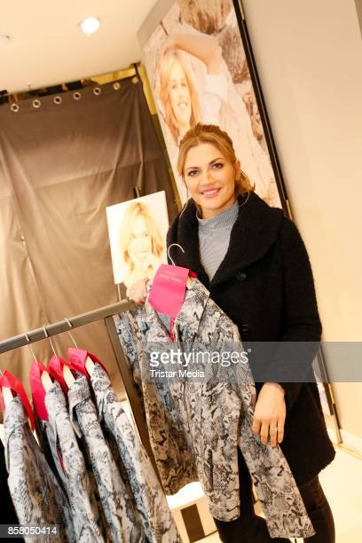 Actress Nina Bott with the Capsule Collection 'Eva Herzigova selected for Gerry Weber' during the Gerry Weber InStore Event on October 5 2017 in...