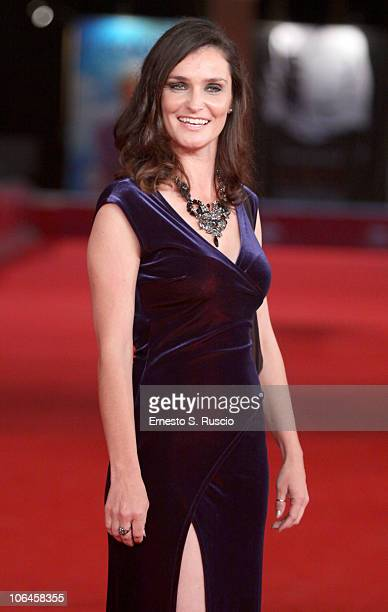 Actress Nina Deasley attend the Little Sparrows premiere during the 5th International Rome Film Festival at Auditorium Parco Della Musica on November...