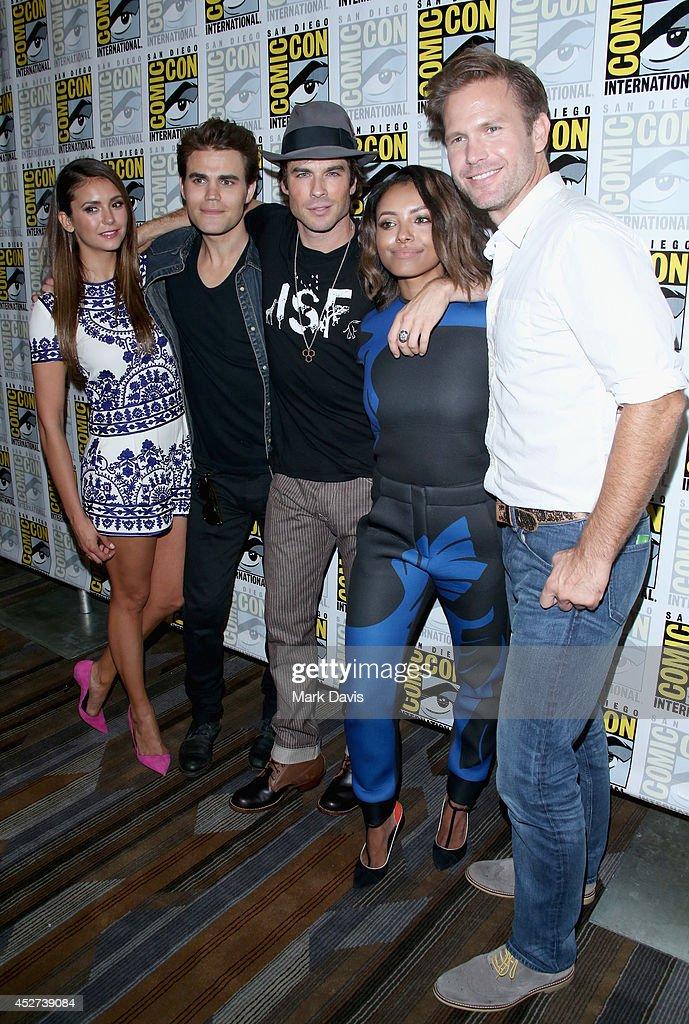 """The Vampire Diaries"" Press Line - Comic-Con International 2014 : News Photo"