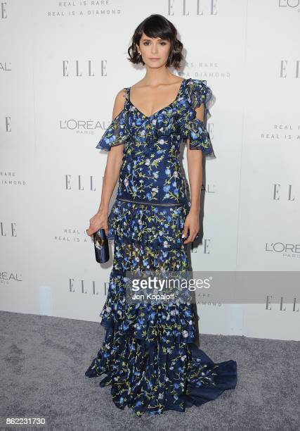 Actress Nina Dobrev arrives at ELLE's 24th Annual Women in Hollywood Celebration at Four Seasons Hotel Los Angeles at Beverly Hills on October 16...