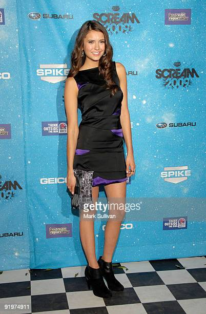 Actress Nina Dobrev arrives at Spike TV's 'SCREAM 2009' Awards at The Greek Theatre on October 17 2009 in Los Angeles California