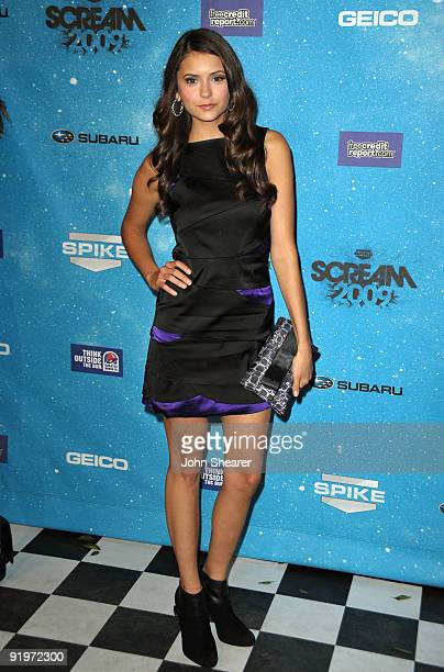 Actress Nina Dobrev arrives at Spike TV's Scream 2009 held at the Greek Theatre on October 17 2009 in Los Angeles California