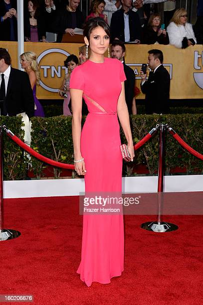 Actress Nina Dobrev arrives at the 19th Annual Screen Actors Guild Awards held at The Shrine Auditorium on January 27 2013 in Los Angeles California
