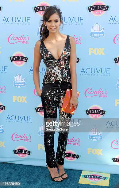 Actress Nina Dobrev arrives at the 2013 Teen Choice Awards at Gibson Amphitheatre on August 11 2013 in Universal City California