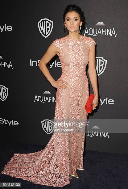 Actress Nina Dobrev arrives at the 2016 InStyle And Warner Bros 73rd Annual Golden Globe Awards PostParty at The Beverly Hilton Hotel on January 10...