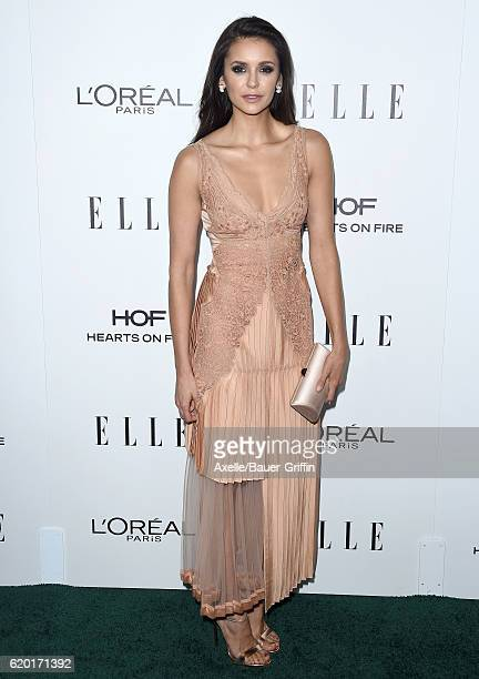 Actress Nina Dobrev arrives at the 23rd Annual ELLE Women In Hollywood Awards at Four Seasons Hotel Los Angeles at Beverly Hills on October 24 2016...