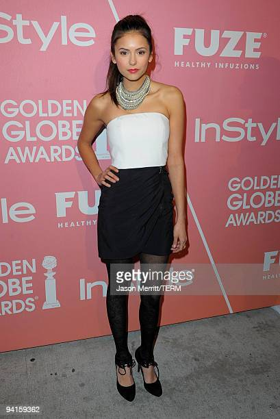 Actress Nina Dobrev arrives at the 2nd annual Golden Globes party saluting young Hollywood held at Nobu Los Angeles on December 8 2009 in West...