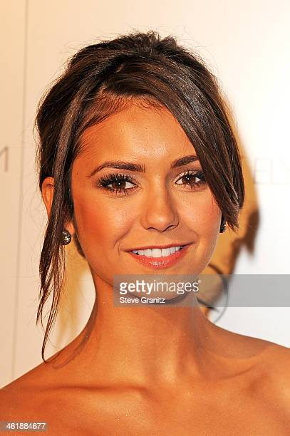 Actress Nina Dobrev arrives at The Art of Elysium's 7th Annual HEAVEN Gala presented by Mercedes-Benz at Skirball Cultural Center on January 11, 2014...
