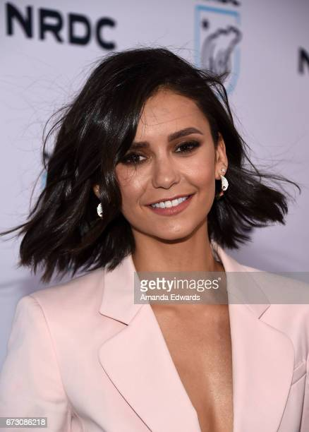 Actress Nina Dobrev arrives at the Natural Resources Defense Council's STAND UP! event at the Wallis Annenberg Center for the Performing Arts on...