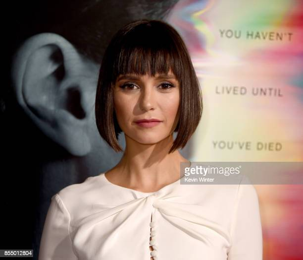 Actress Nina Dobrev arrives at the premiere of Columbia Pictures' Flatliners at the Ace Theatre on September 27 2017 in Los Angeles California