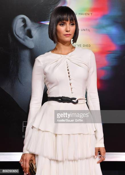 Actress Nina Dobrev arrives at the premiere of 'Flatliners' at The Theatre at Ace Hotel on September 27 2017 in Los Angeles California