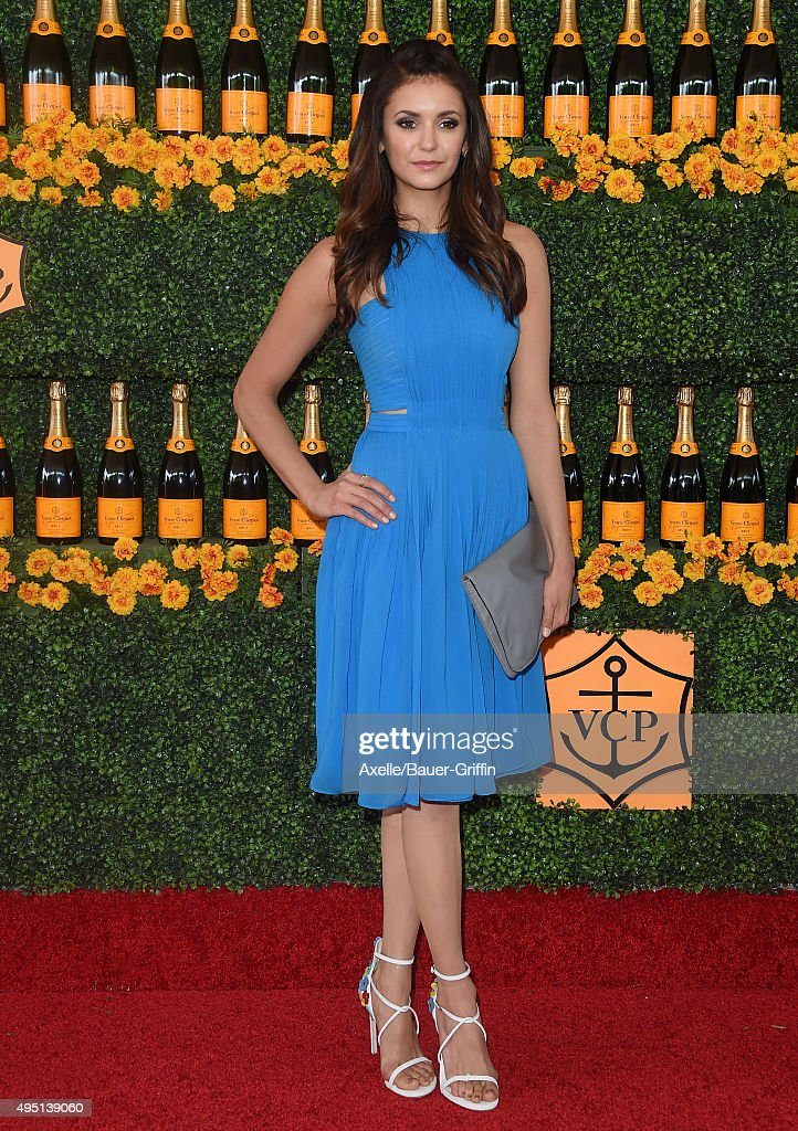 Actress Nina Dobrev arrives at the Sixth-Annual Veuve Clicquot Polo Classic, Los Angeles at Will Rogers State Historic Park on October 17, 2015 in Pacific Palisades, California.