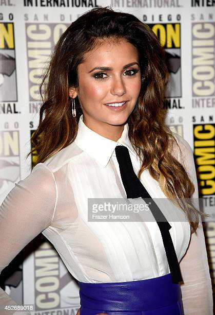 Actress Nina Dobrev attends 20th Century Fox Press Line during Comic-Con International 2014 at Hilton Bayfront on July 25, 2014 in San Diego,...