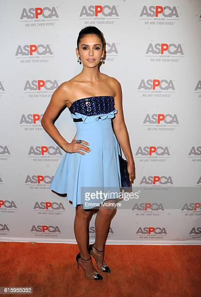 Actress Nina Dobrev attends ASPCA's Los Angeles Benefit on October 20 2016 in Bel Air California