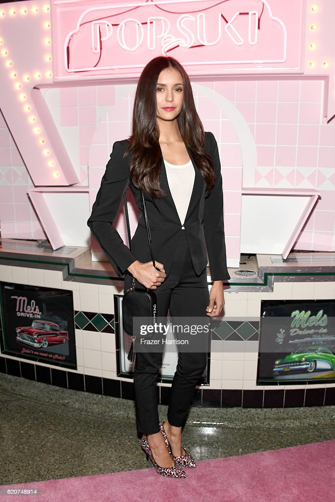 Actress Nina Dobrev attends Poppy Jamie, Suki Waterhouse, Leo Seigal and Cade Hudson celebration of the launch of POP & SUKI on November 2, 2016 in Los Angeles, California.