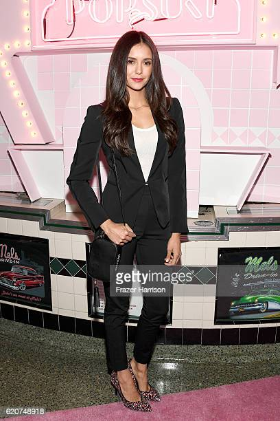 Actress Nina Dobrev attends Poppy Jamie Suki Waterhouse Leo Seigal and Cade Hudson celebration of the launch of POP SUKI on November 2 2016 in Los...