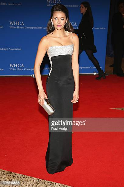 Actress Nina Dobrev attends the 102nd White House Correspondents' Association Dinner on April 30 2016 in Washington DC