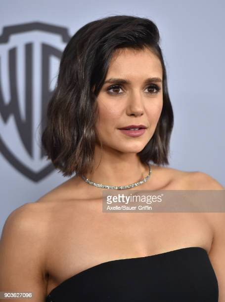 Actress Nina Dobrev attends the 19th Annual PostGolden Globes Party hosted by Warner Bros Pictures and InStyle at The Beverly Hilton Hotel on January...