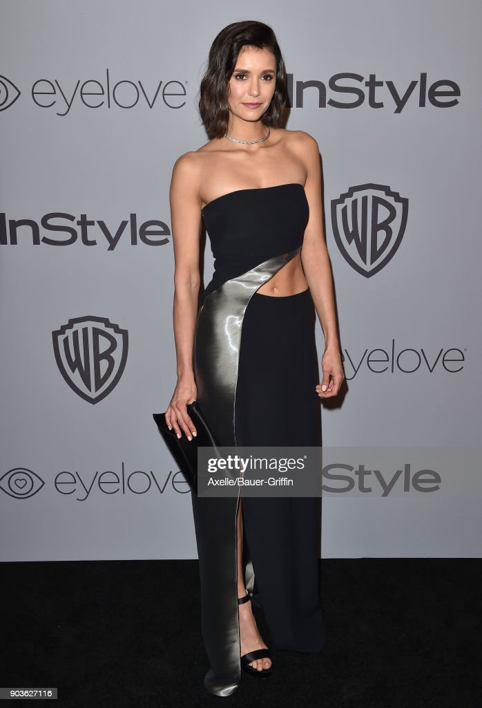 Actress Nina Dobrev attends the 19th Annual Post-Golden Globes Party hosted by Warner Bros. Pictures and InStyle at The Beverly Hilton Hotel on January 7, 2018 in Beverly Hills, California.