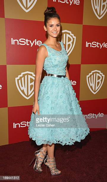 Actress Nina Dobrev attends the 2013 InStyle and Warner Bros 70th Annual Golden Globe Awards PostParty held at the Oasis Courtyard in The Beverly...