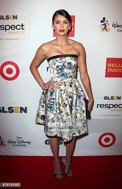 Actress Nina Dobrev attends the 2016 GLSEN Respect Awards at the Beverly Wilshire Four Seasons Hotel on October 21 2016 in Beverly Hills California