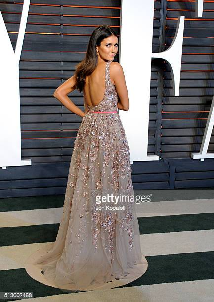 Actress Nina Dobrev attends the 2016 Vanity Fair Oscar Party hosted By Graydon Carter at Wallis Annenberg Center for the Performing Arts on February...